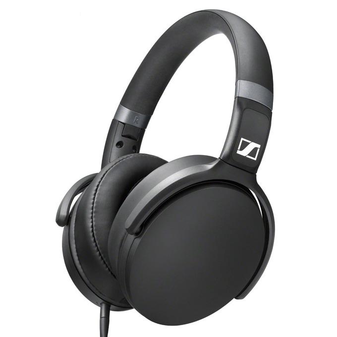 Слушалки Sennheiser HD 4.30G, микрофон, 32мм говорители, сгъваеми, динамичен бас, сменяем кабел с ъглов 3.5мм жак, бързи бутони, черни image