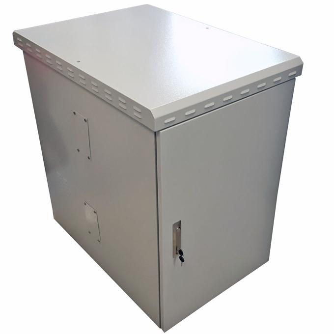 "Комуникационен шкаф Mirsan MR.IP66PTSY609020U.03, 19"", 20U, 900mm, двойни стени - 1.5мм, с 4 вентилатора, бял, Outdoor image"