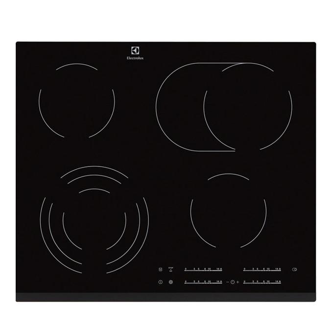 Керамичен плот за вграждане Electrolux EHF 6547FXK, Функция Stop & Go, Индикатор за остатъчна топлина, Функция CleverHeat, черен image