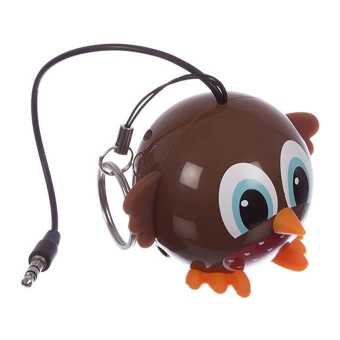 Тонколона KitSound Mini Buddy Bowl, 1.0, 2W, USB, кафява, вградена Li-Ion батерия image