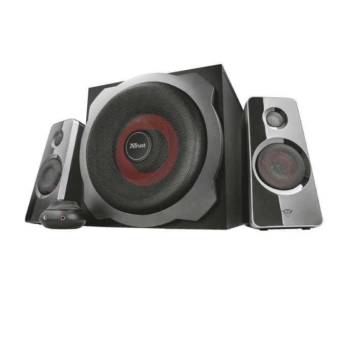 Тонколони TRUST GXT 38 Subwoofer Speaker Set, 60W, 3.5mm jack, 3.5mm jack, черни image