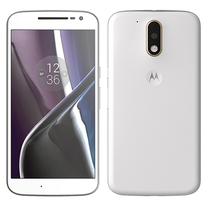 "Motorola Moto G4 (бял), поддържа 2 Sim карти, 5.5"" (13.97 cm) IPS LCD Display, осемядрен Qualcomm MSM8952 Snapdragon 617 (4x1.5 GHz Cortex-A53 & 4x1.2 GHz Cortex-A53), 2GB RAM, 32GB Flash памет(+microSD слот), 13 & 5 Mpix camera, Android, 155g image"