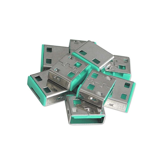 Блокери LINDY 40461, за системата за заключване Lindy, за USB Type A портове, 10x блокера, зелени image