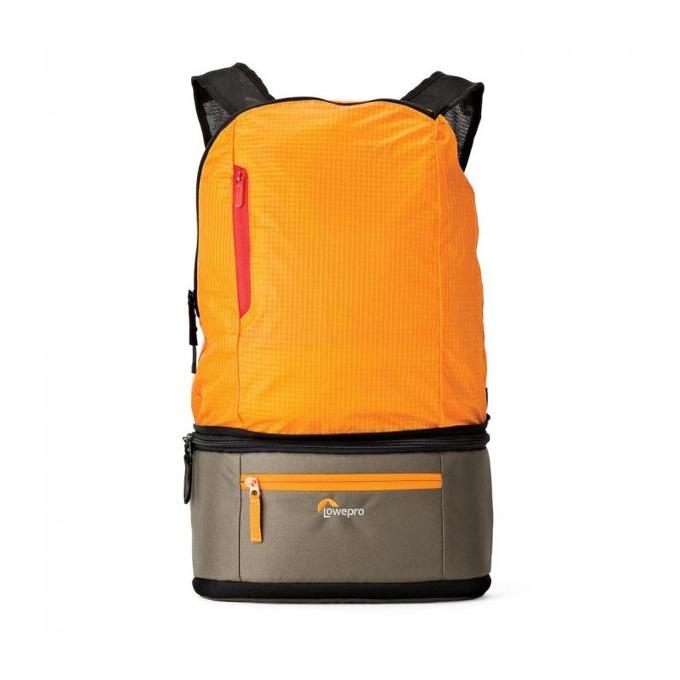 Чанта за фотоапарат Lowepro Passport Duo, за безогледална камера или компактен DSLR и 3 обектива, водоустойчива, оранжева image
