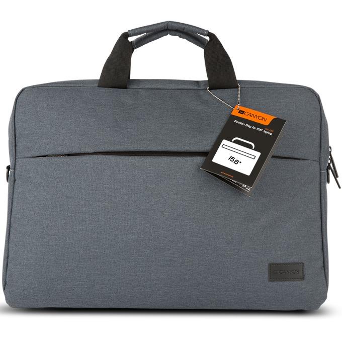 """Чанта за лаптоп Canyon CNE-CB5G4, до 15.6""""(39.62 cm), сива image"""