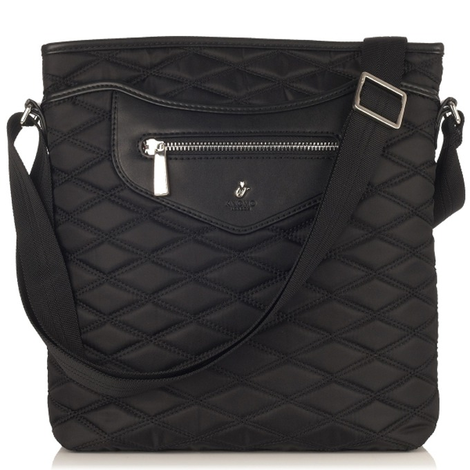 "Чанта за лаптоп Knomo Maple Cross Body Bag, 10.2""(25.9 cm), кожена, черен image"