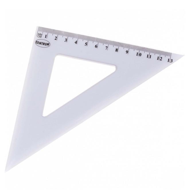 Триъгълник Centrum, равнобедрен, 13cm., бял image