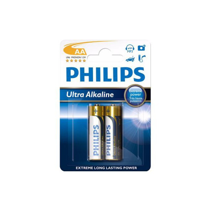 Батерии алкални Philips Ultra AA, 1.5V, 2 бр. image