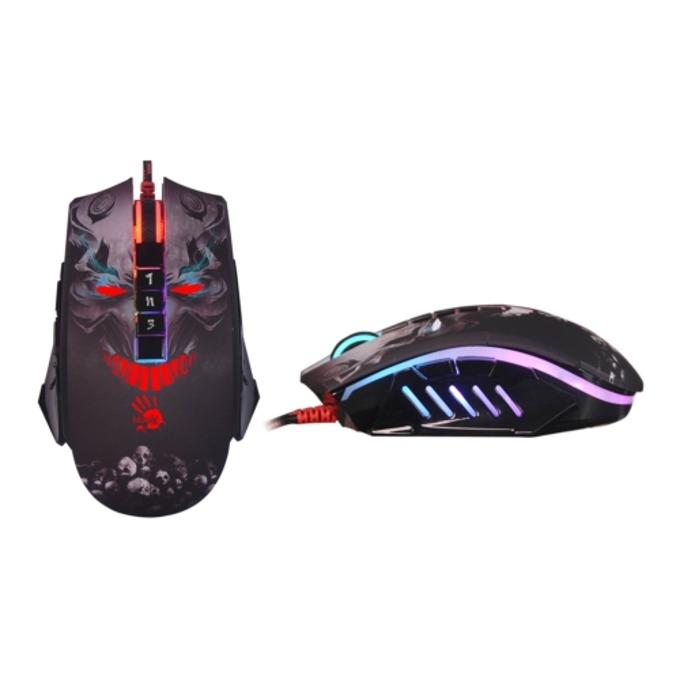 Мишка A4tech Bloody P85 Skull, оптична (5000 cpi), 8 бутонa, черна с щампа image
