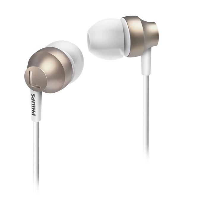 """Слушалки Philips SHE3850GD, тип """"тапи"""", мощни баси , златисти image"""