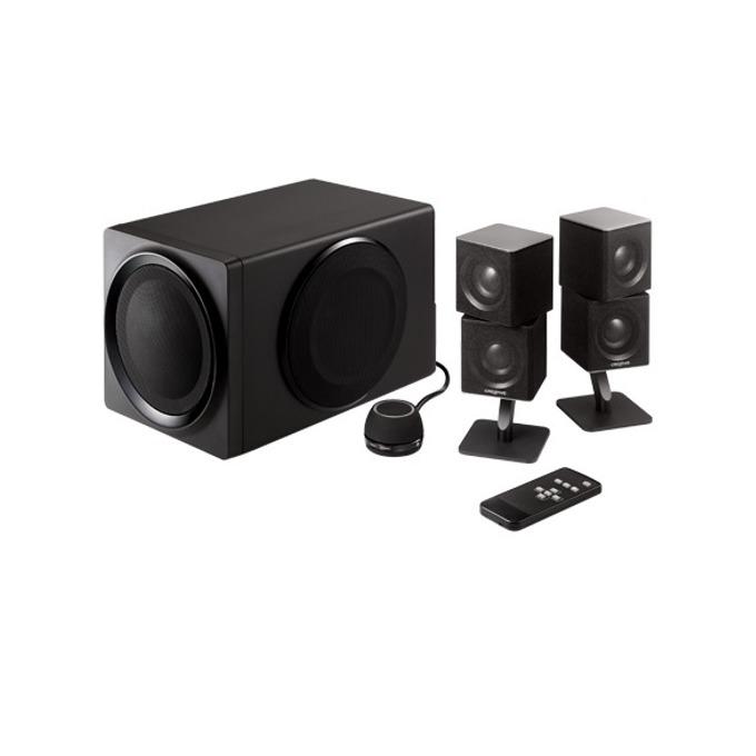 Тонколони Creative T6 series II, 2.1, RMS 90W, (5.1 дигитално през USB, Bluetooth), черни image