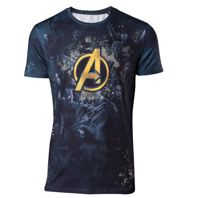 Тениска Bioworld Avengers Infinity War Team Sublimation, размер XXL, синя image