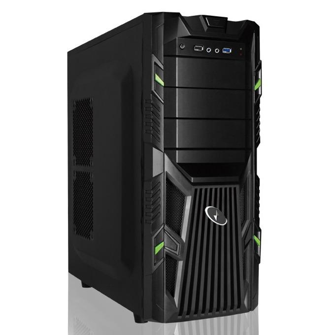 Кутия Gembird CCC-GJ-002-G, ATX/Micro-ATX, 1x USB 3.0, черна, без захранване  image