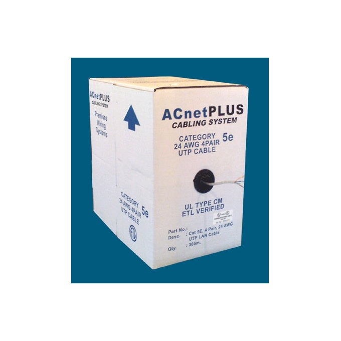 ACnetPLUS UTP Solid 24AWG Class D Cat 5e