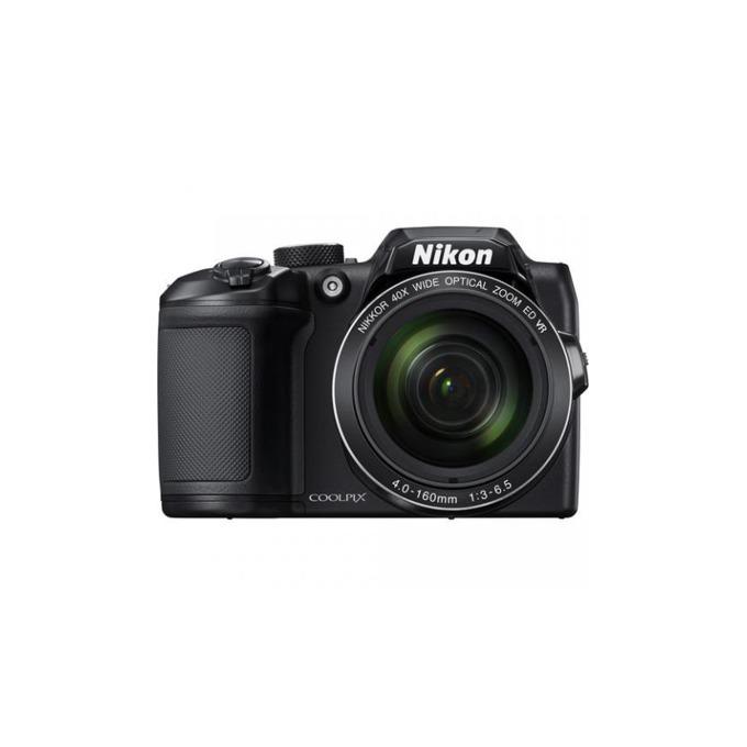 "Фотоапарат Nikon CoolPix B500(черен) в комплект със зарядно у-во Panasonic Eneloop Basic(4x батерии АА), 40x оптично увеличение, 16 Mpix, 3.0"" (7.62cm) TFT LCD дисплей, Wi-Fi, HDMI(Type D), micro USB, SDXC слот image"