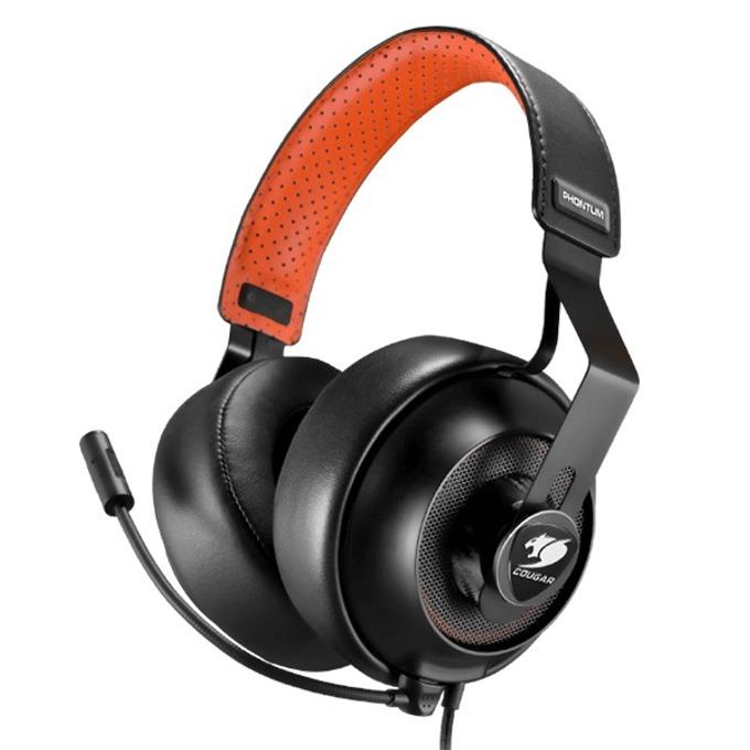 Слушалки Cougar Gaming Phontum Headset, микрофон, 20Hz-20kHz честотен диапазон, импеданс 2.2kΩ, черни image