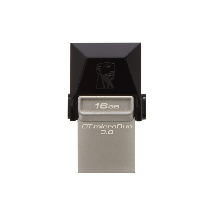 16GB USB Flash Drive, Kingston DataTraveler, USB 3.0/ micro USB 3.0, черна image