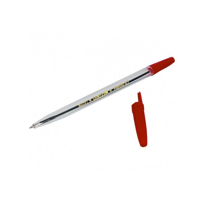 Химикалка Centrum Pioneer, червен цвят на писане, 0.5 mm, прозрачна, цената е за 1бр. (продава се в опаковка от 50 бр.) image