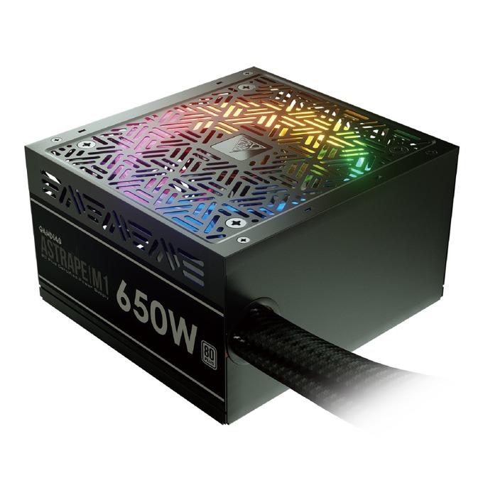 Захранване Gamdias ASTRAPE M1-650W, 650W, Active PFC, 80 Plus, 120mm вентилатор, RGB подсветка image