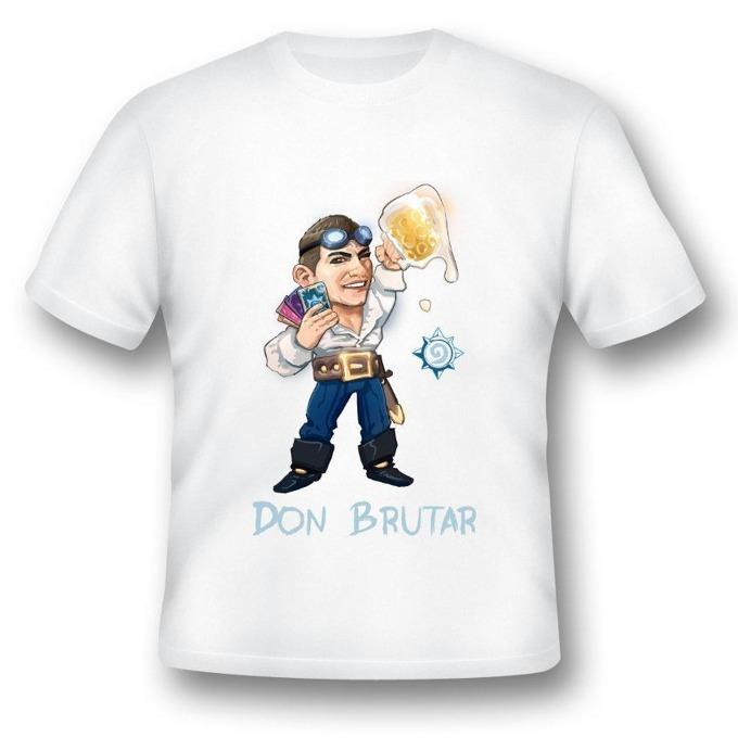 Тениска GplayTV DonBrutar, размер M, бяла image
