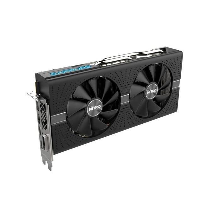 Видео карта AMD Radeon RX 570, 4GB, Sapphire NITRO+ 11266-14-20G, PCI-E 3.0, GDDR5, 256 bit, 2x Display Port, 2x HDMI, DVI, Nitro Glow 2 подсветка image
