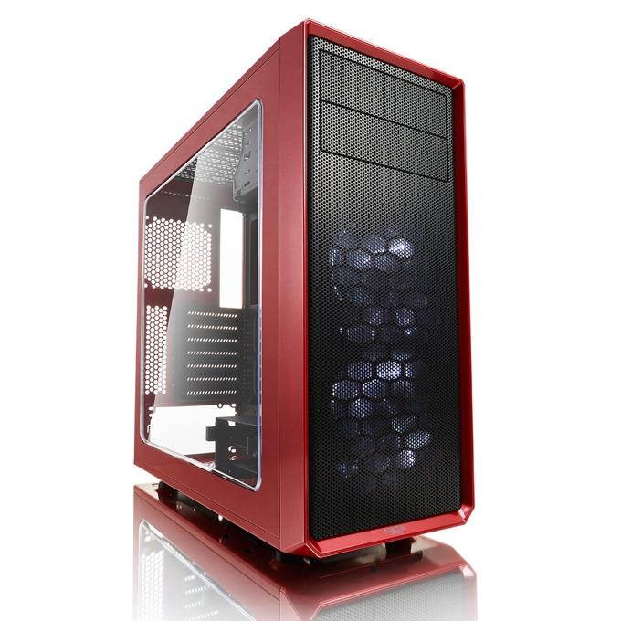 Кутия Fractal Design Focus G, ATX/mATX/ITX, USB 3.0, прозорец, червена, без захранване image