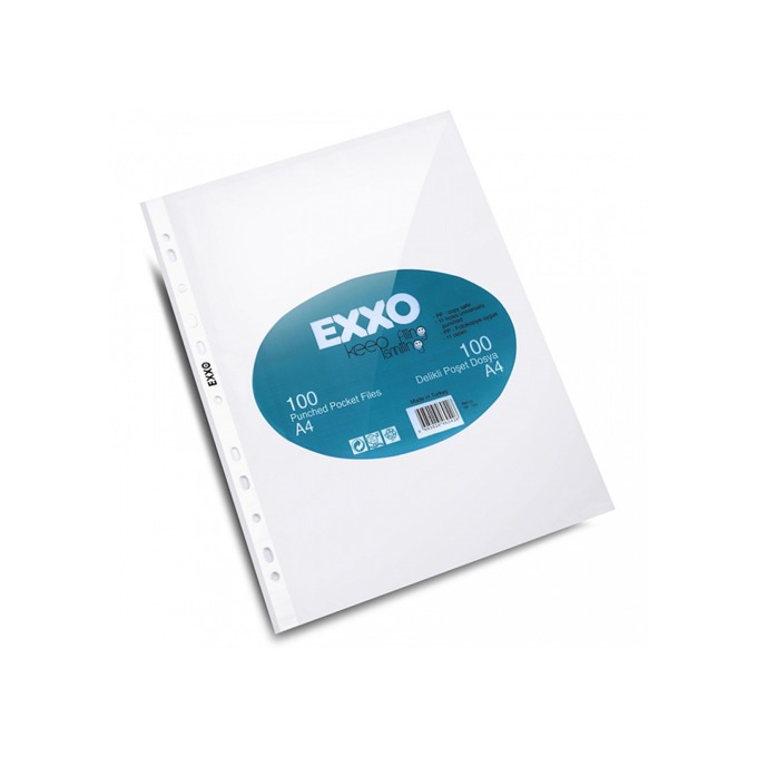 Джоб Exxo, за документи с формат до А4, дебелина 40 микрона, прозрачен, матиран, продава се в опаковка от 100бр. image