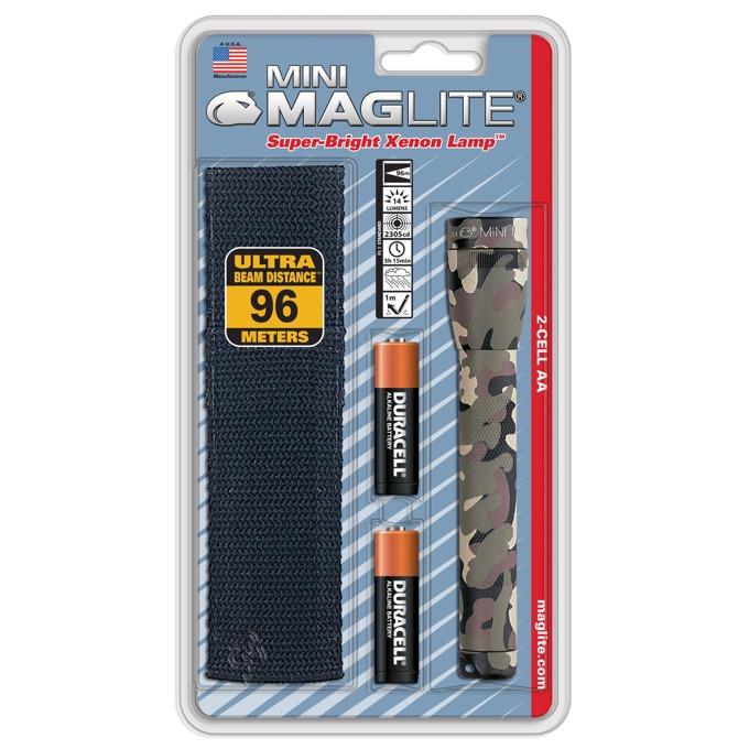 Фенер Mini MAGLITE M2A02H, 2 батерии AA, 14 lm, водоустойчивост, камуфлаж image