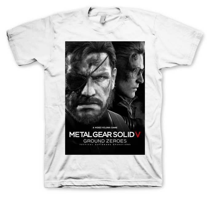 Тениска Metal Gear Solid V: Ground Zeroes, размер XL, бяла image