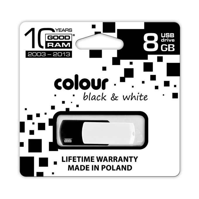 8GB USB Flash Drive, Goodram Colour Black & White, черна/бяла image