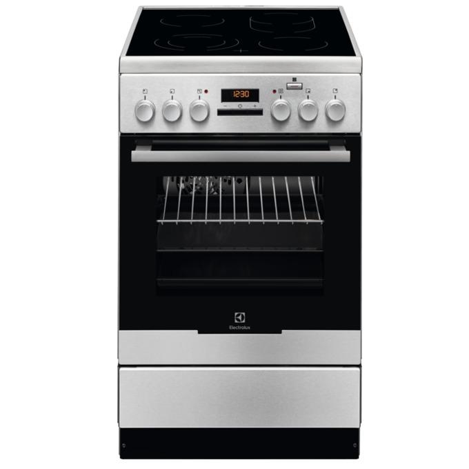 Готварска печка Electrolux EKC54952OX, клас A, 58л. обем, стъклокерамичен готварски плот с 4 нагревателни зони, система Hot Air, инокс image