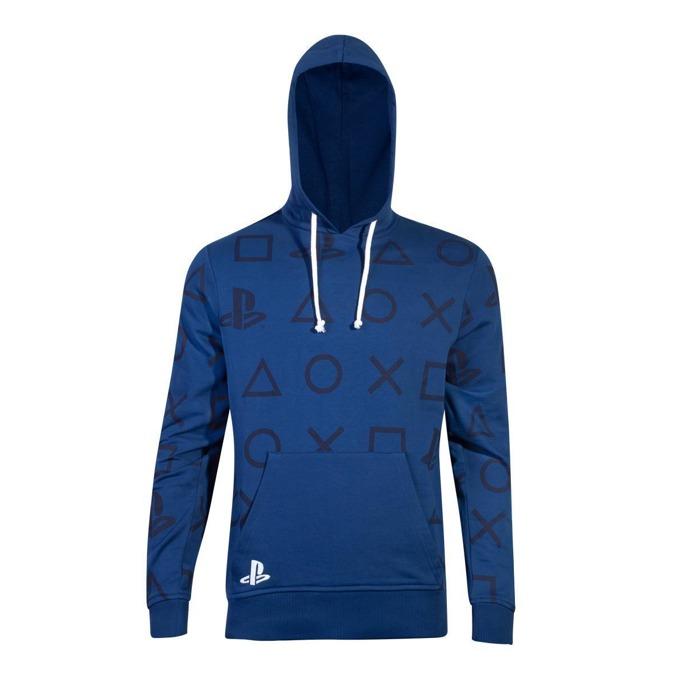 Суитшърт Bioworld PlayStation AOP Icons, мъжки, размер XL, син image