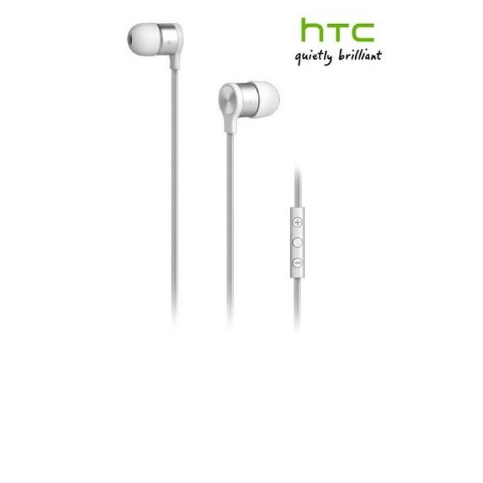 """Слушалки HTC RC E240, бели, микрофон, тип """"тапи"""" image"""