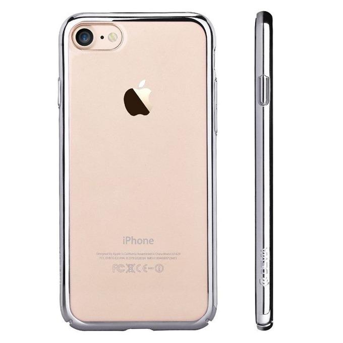 Калъф за Apple iPhone 7+, страничен протектор с гръб, поликарбонат, Devia Glimmer, сребрист image