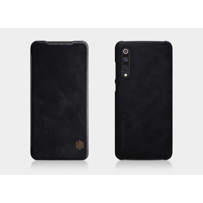Калъф за Xiaomi Mi 9, кожен, Nillkin Qin, черен image