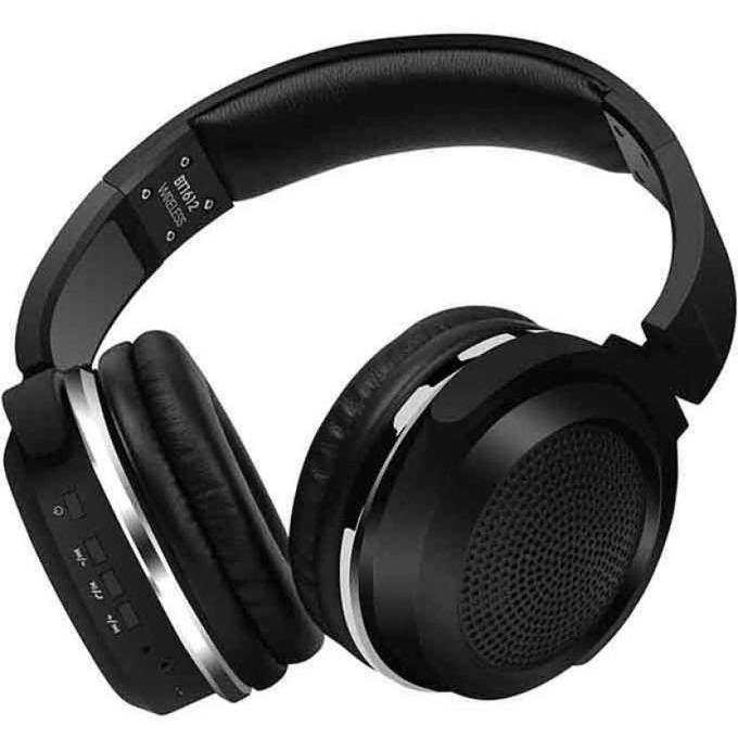Слушалки Royal BT-1612, жични/безжични, Bluetooth V4.2, микрофон, до 5 часа време за работа, черни image