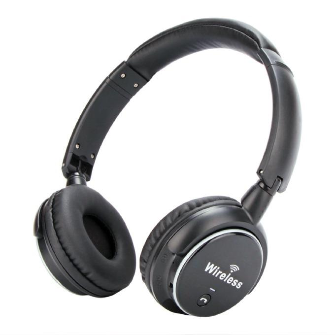 Слушалки VCom M-272, безжички, микрофон, Bluetooth, FM radio, MicroSD, Aux, черни image