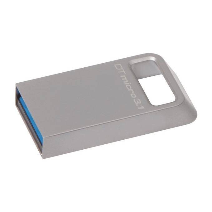 Памет 16GB USB Flash Drive, Kingston DTMicro, USB 3.1, сива image