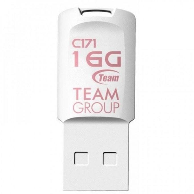 16GB USB Flash Drive, Team Group C171, USB 2.0, бяла image