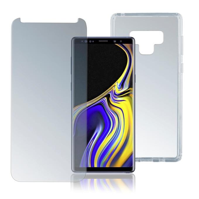 Протектор от закалено стъкло /Tempered Glass/, 4smarts, за Samsung Galaxy Note 9, хибриден (полимер+TPU) кейс image