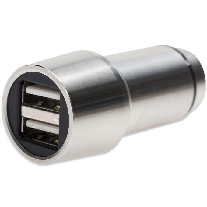 Зарядно за кола Ednet 2x USB A(ж), сребрист image