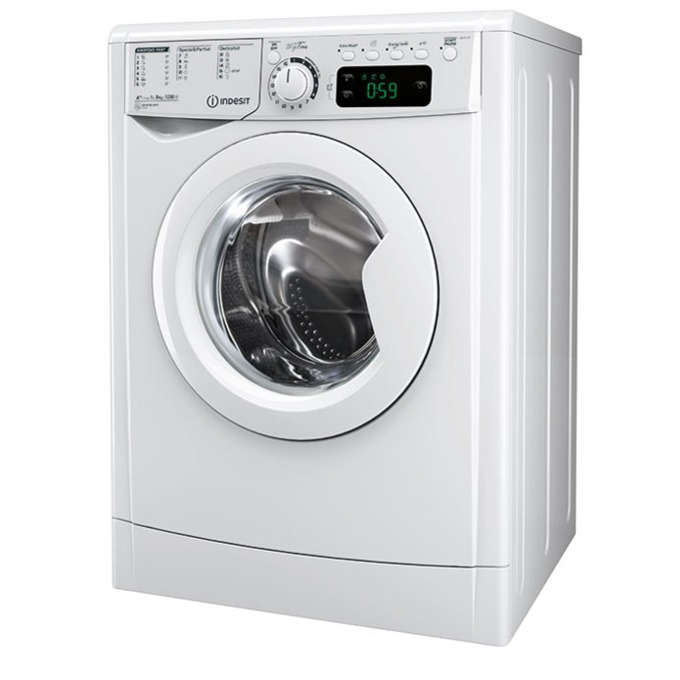 Перална машина Indesit EWE 71083 W EU, клас A+++, 7 кг. капацитет, 1000 оборота в минута, 16 програми, 60 cm. ширина, бяла image