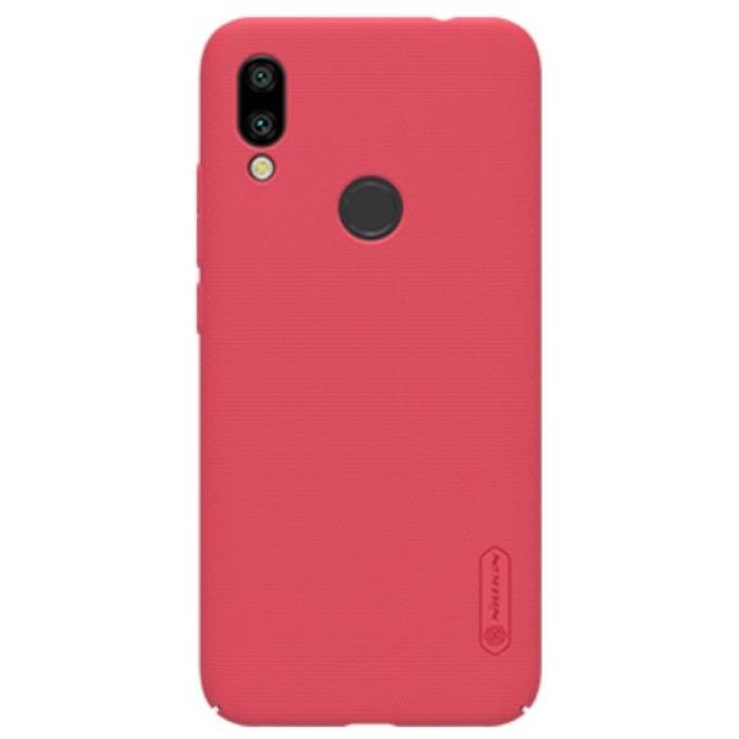 Калъф за Xiaomi Redmi 7, поликарбонатен, Nillkin Super Frosted Shield, червен image