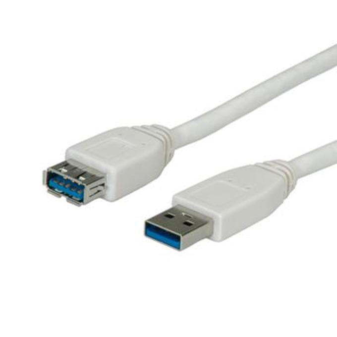 Кабел Roline 11.99.8978, USB 3.0 A(м) към USB А(ж), 1.8m, бял image