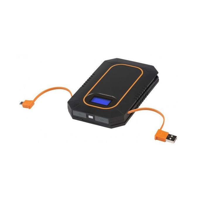 Bъншна батерия/power bank A-solar Lava AM114 2nd gen, 6000 mAh, USB/microUSB изходa, cоларна, черна image
