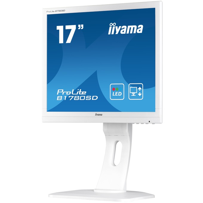 "Монитор Iiyama Prolite B1780SD-W1, 17""(43.18 cm) TN панел, SXGA, 5ms, 12 000 000:1, 250 cd/m2, HDMI, DVI, VGA image"