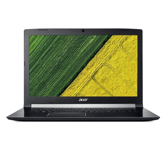 """Лаптоп Acer Aspire 7 A717-72G-74B2 (NH.GXDEX.048) с подарък SSD 250GB WD Black NVMe, шестядрен Coffee Lake Intel Core i7-8750H 2.2/4.1GHz, 17.3"""" (43.94 cm) FHD Anti-Glare Display & GeForce GTX 1050 4GB, (HDMI), 8GB DDR4, 1TB HDD, USB C, Linux, 3.0 kg image"""