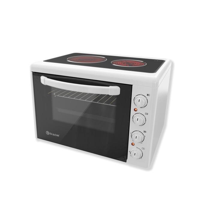Готварска печка Елдом 201VFE, клас A, 38 л. обем на фурната, стъклокерамичен плот, бялa image