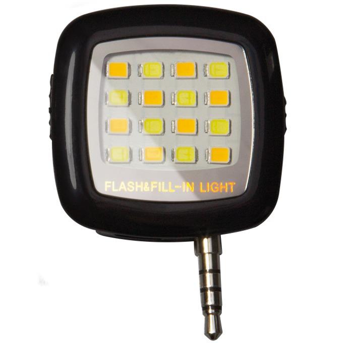 Външна светкавица за смартфони LogiLink Smartphone LED,200 mAh Li-ion батерия, LED, черна image