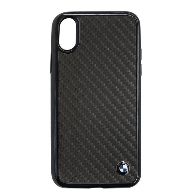 Калъф Apple iPhone X, страничен протектор с гръб, външна карбоново-алуминиева структура, BMW Signature Real Carbon Fiber Hard Case, черен image